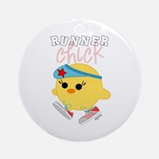Runner Chick Ornament (Round)