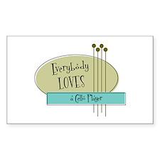 Everybody Loves a Cello Player Sticker (Rectangula
