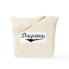 Dayana Vintage (Black) Tote Bag