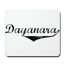 Dayanara Vintage (Black) Mousepad