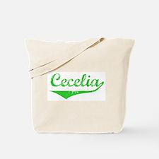 Cecelia Vintage (Green) Tote Bag