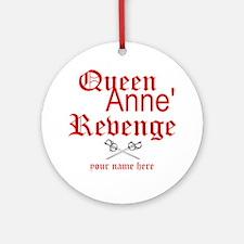 Queen Annes Revenge Round Ornament