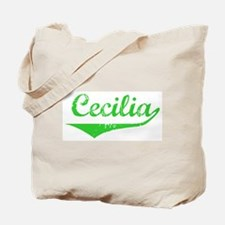 Cecilia Vintage (Green) Tote Bag