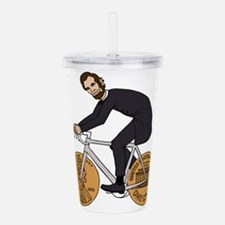 Abraham Lincoln On A B Acrylic Double-wall Tumbler