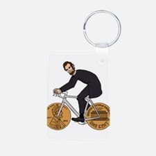 Abraham Lincoln On A Bike With Penny Whe Keychains