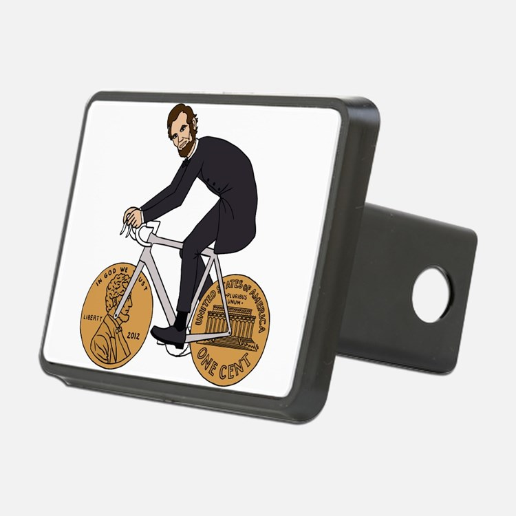 Abraham Lincoln On A Bike Hitch Cover