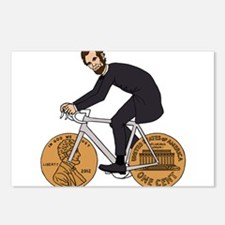 Abraham Lincoln On A Bike Postcards (Package of 8)