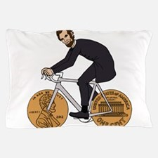 Abraham Lincoln On A Bike With Penny W Pillow Case