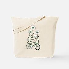 Flower Bike Tote Bag