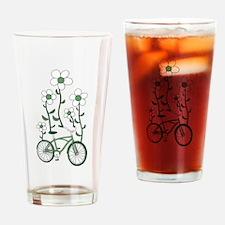 Flower Bike Drinking Glass