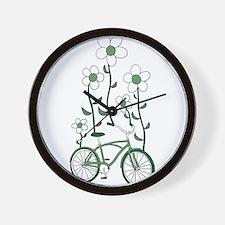 Flower Bike Wall Clock