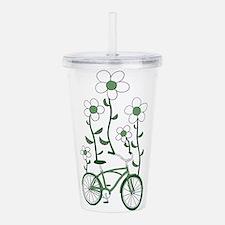 Flower Bike Acrylic Double-wall Tumbler