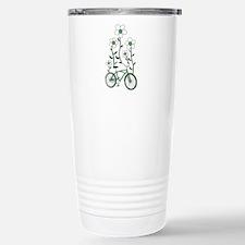 Flower Bike Stainless Steel Travel Mug
