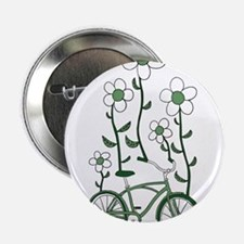 """Flower Bike 2.25"""" Button"""