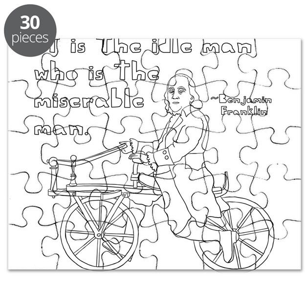 The Office Ben Franklin Quotes: Ben Franklin Quote On Bike Puzzle By ADMIN_CP136285437