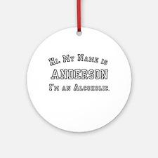 Anderson Ornament (Round)