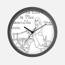 Ben Franklin Quote on bike Wall Clock