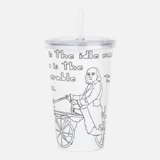 Ben Franklin Quote on Acrylic Double-wall Tumbler