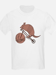 Armadillo Riding Bike With Armadillo Wheel T-Shirt