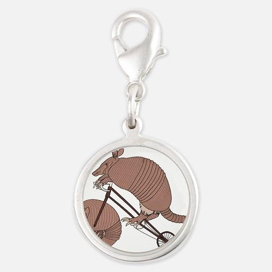 Armadillo Riding Bike With Armadillo Wheel Charms