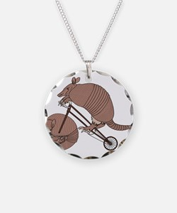 Armadillo Riding Bike With A Necklace