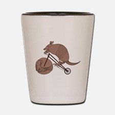 Armadillo Riding Bike With Armadillo Wh Shot Glass