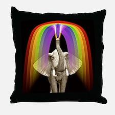 Blow Me A Rainbow Throw Pillow