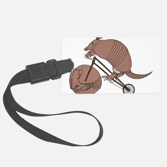 Armadillo Riding Bike With Armad Luggage Tag