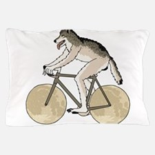 Werewolf Riding Bike With Full Moon Wh Pillow Case
