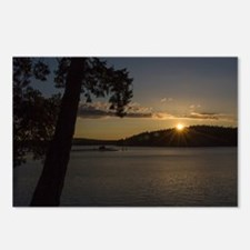 Funny Sunset clouds Postcards (Package of 8)