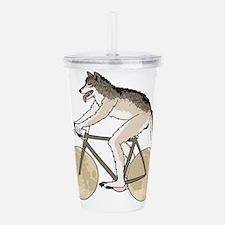 Werewolf Riding Bike W Acrylic Double-wall Tumbler
