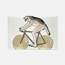 Werewolf Riding Bike With Full Moon Wheels Magnets