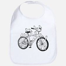 Birds On Bike (white) Bib