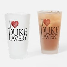 I Heart Duke Lavery Drinking Glass