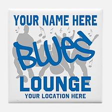 Custom Blues Lounge Tile Coaster