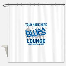 Custom Blues Lounge Shower Curtain