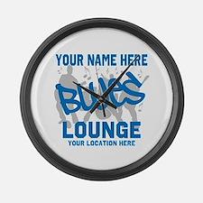 Custom Blues Lounge Large Wall Clock