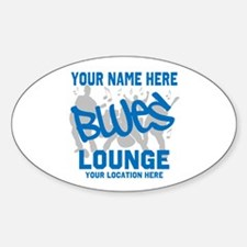 Custom Blues Lounge Bumper Stickers