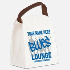 Custom Blues Lounge Canvas Lunch Bag
