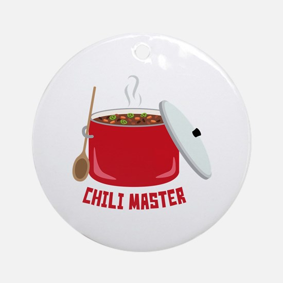 Chili Master Round Ornament