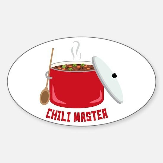 Chili Master Decal