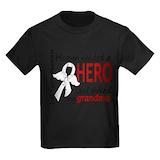 Grandma lung cancer Kids T-shirts (Dark)