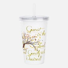 Great is the Lord Acrylic Double-wall Tumbler