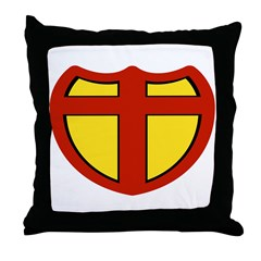 Super Christ Christian Throw Pillow