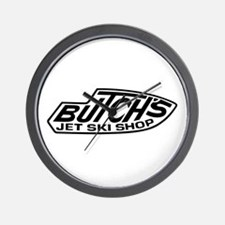 2-Butchs 3 trans white.png Wall Clock