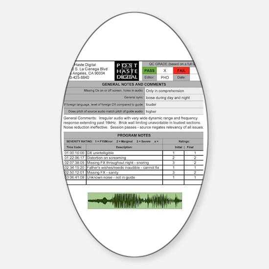 Unique Qc Sticker (Oval)