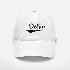 Delia Vintage (Black) Baseball Baseball Cap