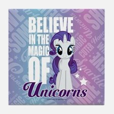 MLP Rarity Unicorns Tile Coaster