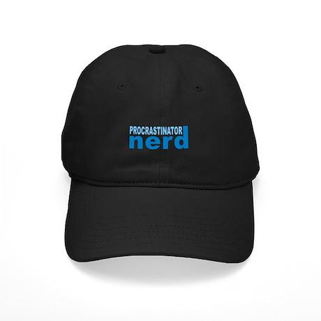 Procrastinator Nerd Black Cap