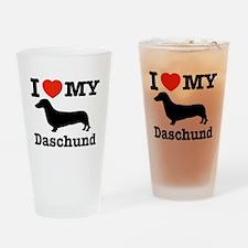 I love my Daschund Drinking Glass